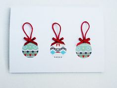 Bauble Design Christmas Card Set of 6 by WideSkyPapercrafts, £9.00