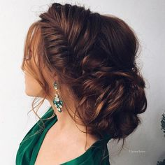 Get inspired by this fabulous braided updo wedding hairstyle - Beautiful wedding hairstyle Get inspired by fabulous wedding hairstyles,low bridal updo