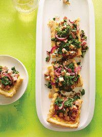 Quiche à l'oignon, au jambon blanc et au kale