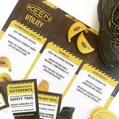 KEEN Utility Canada - Retail Backroom poster, slatwall shelf backdrops, and a sales staff contest incentive.