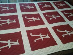 Hey, I found this really awesome Etsy listing at https://www.etsy.com/listing/211314414/university-of-alabama-quilt-football