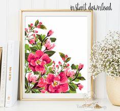 Printable flower Decor Nursery wall art floral illustration nursery decoration nursery flower print garden flower instant download ID119-120