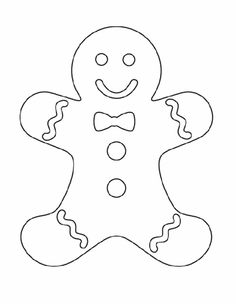 4 Images Of Gingerbread Template Printable Christmas Decorations