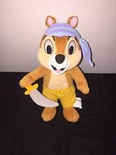"""Disney Chip & Dale - Chip The Pirate Mickey Mouse Clubhouse Beanie Plush 10"""" 3+"""