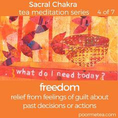 7 Days 7 Chakras Tea Mediation Series #poormetea #chakra #chakrateameditations #7days7chakras #sacralchakra