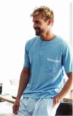 Comprar Pijama de verano Guasch. PX151 D540. Esquijama para hombre en tonos azul claro en punto de algodón. 100% algodón. PVP: 49,10€. ENVÍO 24/48 horas. http://www.varelaintimo.com/marca/9/guash