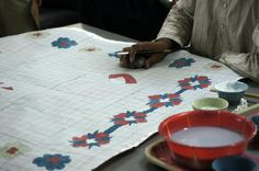 """The ancient art form and master craft ofhandknotting rugs starts with a design drawn on graph paper, called a""""cartoon"""".Then the weavers take the design and begin the process of making the rug, one knot at a time. Learn more about this ancient rug making process."""