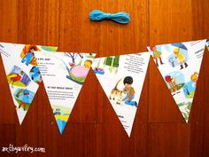 Recycled Picture Book Bunting - Tutorial