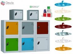 The plastic lockers are just as economical and infinity times better looking.