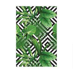 Palms Over Diamonds Art Print