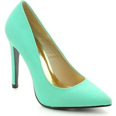 Cape Robbin Veni-by-7 Women's Chic Basic Dress Pump (Green-7) (€31) ❤ liked on Polyvore featuring shoes, pumps, heels, green, pointed toe shoes, pointed toe high heel pumps, green high heel shoes, dress pump and green shoes