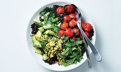 I would add cucumber instead of the scallions - Grilled Cobb Salad Recipe