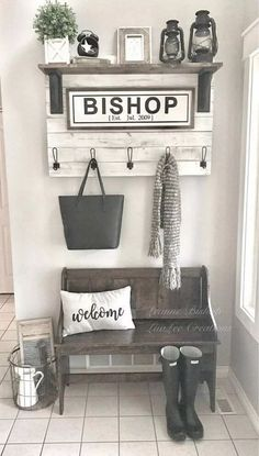 Best Small Entryway Decor & Design Ideas for Upgrading Space 2019 -. - Best Small Entryway Decor & Design Ideas to Upgrade Space 2019 – # DIY Home Decor – - Home Confort, Small Mudroom Ideas, Room Decor For Teen Girls, Diy Casa, Foyer Decorating, Decorating Ideas For The Home Living Room, Decoration Design, Home And Deco, Diy Home Decor
