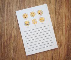 A personal favorite from my Etsy shop https://www.etsy.com/listing/237730832/emoji-notepad-5x7-emoji-notepad-hand