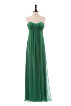 Sweetheart Chiffon Dress with Empire Waist