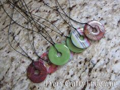 Every Creative Endeavor: Glazed Washer Necklaces Tutorial. Best tutorial yet for washer necklaces. Resin Jewelry, Jewelry Crafts, Handmade Jewelry, Handmade Gifts, Jewelry Ideas, Jewelry Party, Stamped Jewelry, Jewelry Box, Washer Necklace Tutorial