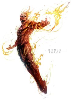 Human Torch by *nefar007 on deviantART  Auction your comics on http://www.comicbazaar.co.uk