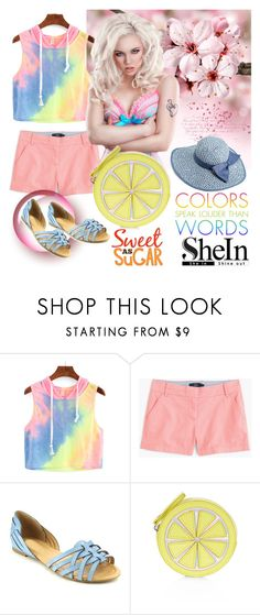 """Shein top"" by irinavsl ❤ liked on Polyvore featuring J.Crew, Beston, Accessorize and Jessica Simpson"