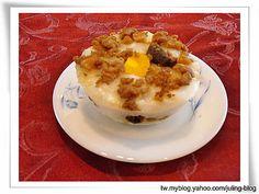 碗粿 || 在來米粉  200g    水 500g (在來米粉:水 比例  1:2.5) 米飯 200g    水  300g (米飯:水  比例  1:1.5) 饀料:  絞肉   香菇   蘿蔔乾末   鹹蛋黃     油葱酥