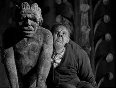 pic from 1939 Hunchback of Notre Dame --starring Charles Laughton as Quasimodo and Maureen O'Hara as Esmerelda