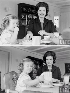 First Lady Jacqueline Kennedy with daughter Caroline