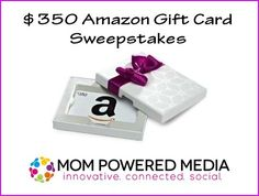 $350 Amazon Gift Card  USA / CA #Giveaway via @ParentingPatch| Parenting Patch:  Enter to win one (1) $350 Amazon gift card. Open to legal residents of the United States of America and Canada. Ends on October 2, 2014.