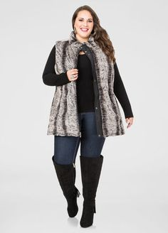 adeef1b9796 Reversible Faux Fur Vest Trendy Plus Size Fashion