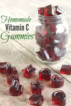 Homemade Vitamin C Gummies. Finally! I can give my kids chewable vitamins without a boatload of sugar!