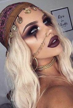 Gypsy Halloween makeup