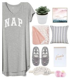 """Good at naps"" by moni-ballerina ❤ liked on Polyvore featuring Gap, OuiHours, M&Co, Eos, Nordstrom Rack, Kate Spade and nap"