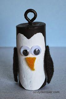 Cindy deRosier: My Creative Life: Cork Penguins Wine Craft, Wine Cork Crafts, Wine Bottle Crafts, Wine Cork Art, Wine Corks, Family Crafts, Holiday Crafts, Cork Christmas Trees, Christmas Ornaments