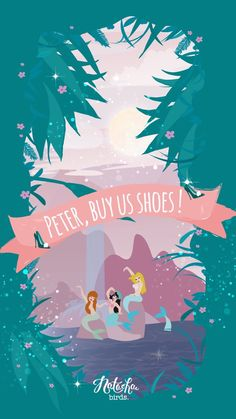 Peter Pan Mermaid Shoes iPhone Wallpaper Disney