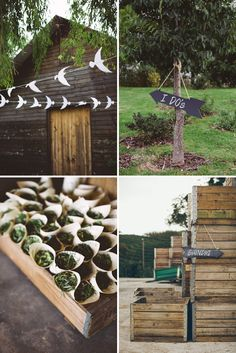 love the bird garlands! Music Themed Rustic Farm Wedding In South Africa | Bridal Musings