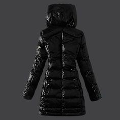 white down slim puffer coat women | Designer Womens Long Sleeve