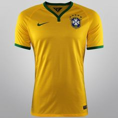 Netshoes - Camisa Nike Seleção Brasil I 2014 s nº - Jogador Seleção  Brasileira De 0f374c15dade1