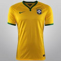 6254f73539 Netshoes - Camisa Nike Seleção Brasil I 2014 s nº - Jogador Seleção  Brasileira De