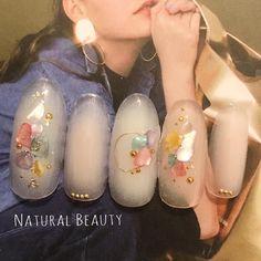 nail shapes videos And Lengths Acrylic Nail Shapes, Gel Nail Art, Elegant Nails, Stylish Nails, Pretty Nails, Cute Nails, Japan Nail Art, Self Nail, Minimalist Nails