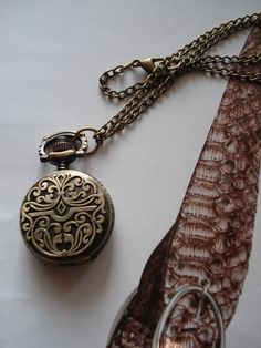 20 HOLIDAY SALE Necklace Pendant Pocket Watch by Azuraccessories, $4.99