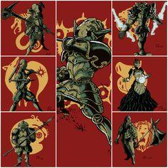Seven Deadly Sins in their armor