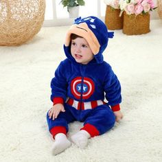 Boys' Baby Clothing Imported From Abroad Biniduckling Autumn Spring Baby Boys Girls Clothes Long Sleeve Rompers Hooded Newborn Cotton Zipper Jumpsuit Infant Clothes Long Performance Life