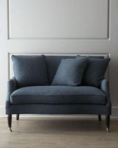 Shop Lora Settee at Horchow, where you'll find new lower shipping on hundreds of home furnishings and gifts. Sofa Design, Interior Design, Furniture Design, Traditional Sofa, New Living Room, Living Area, Living Spaces, Living Furniture, Home Staging