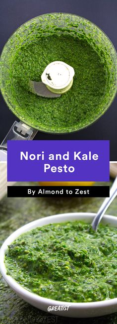 7. Nori and Kale Pesto #greatist http://greatist.com/eat/easy-seaweed-recipes
