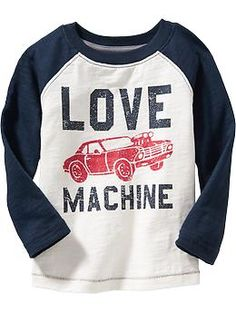 Valentines Day Raglan-Sleeve Graphic Tees for Baby and Toddler Boys, love this!
