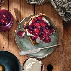 Labne Toast with Homemade Berry Preserve