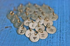 @Erin Duncan Vita Jewelry Greek Alphabet Charms by BellaVitaJewels on Etsy, $10.00...can't wait to get my Gamma Phi Beta charm!!