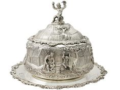 The decoration and design involved in this Victorian sterling silver preserve dish is exceptional!