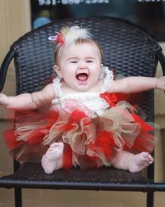 Sweet little Anna Grace wearing our Sock Monkey tutu outfit. She is so adorable!!
