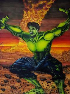 The Hulk. Mixed Media on Paper. Hulk, Mixed Media, Joker, Artwork, Painting, Fictional Characters, Work Of Art, Auguste Rodin Artwork, Painting Art