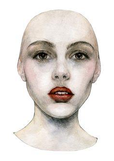 Faces by Daria Makeeva, via Behance