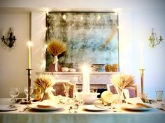 Tips for Setting an Unforgettable Thanksgiving Table From Standen New York Thanksgiving Celebration, Thanksgiving Table, Thanksgiving Stuffing, Entertainment Table, New York Photos, Glass Candlesticks, Bud Vases, Tablescapes, Dressing Tables